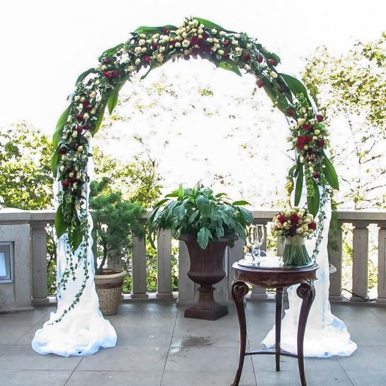 Свадебная арка буйство цветов