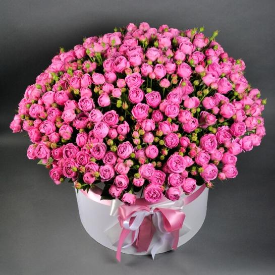 Коробка XL с розой Мисти Бабблз