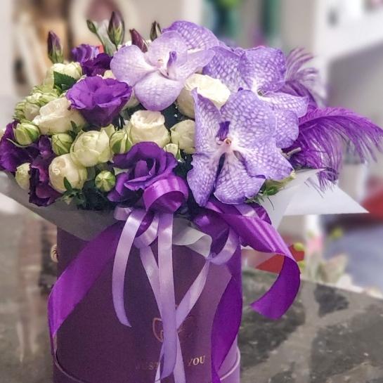 Композиция с орхидеей Ванда