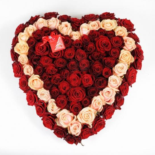 Букет 1145 букет сердце