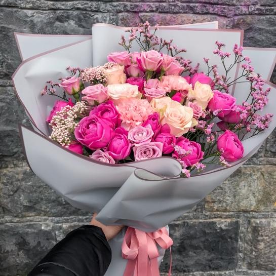 Букет № 1523 с розой Мисти Бабблз