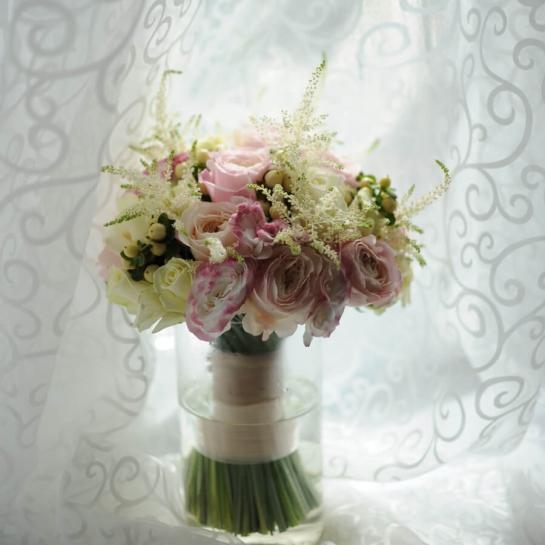 Букет невесты с розой Дэвида Остина