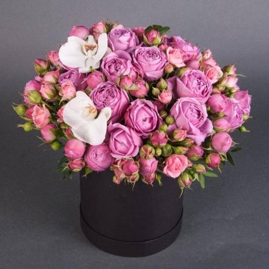 Розы Мисти Бабблз в коробке
