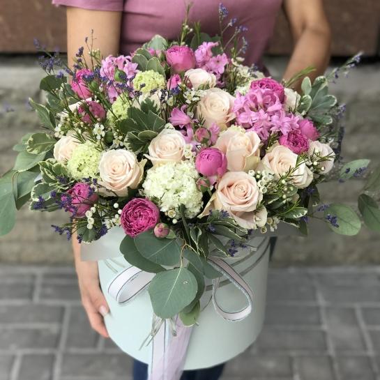 Композиция XL с розами Шарман