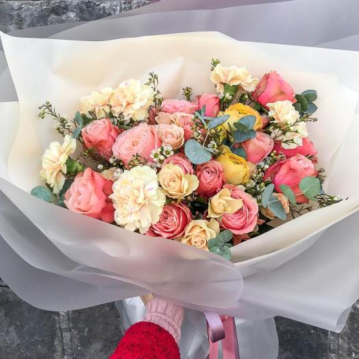 Скидка -20% на цветы, букеты и растения