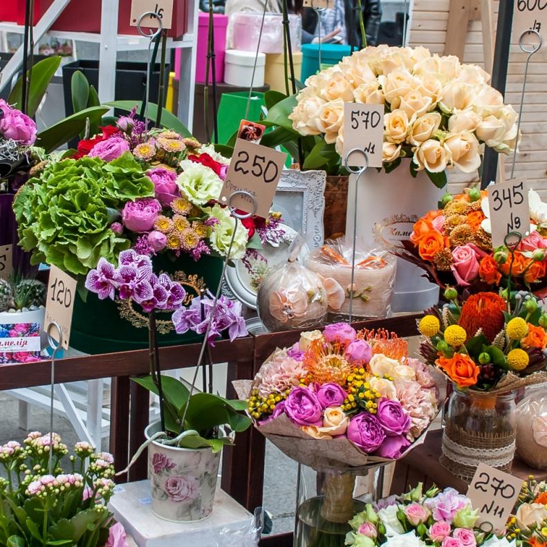 Купить цветы на улицы киев, корзинах цена